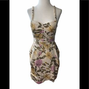 Wilfred floral bustier dress with pockets 4